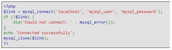 Simple connection to a MySQL Database